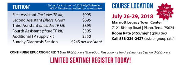 AGpO Assistants Course Rates