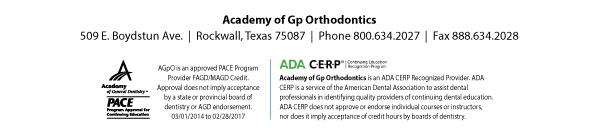 Academy of Gp Orthodontics | Phone 800.634.2027