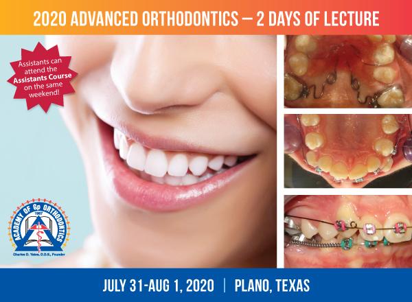 Academy of Gp Orthodontics 2020 Advanced Orthodontics Course
