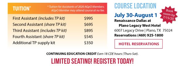 Course Fees & Hotel Reservations